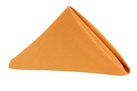 "20"" Burnt Orange Polyester Napkins"