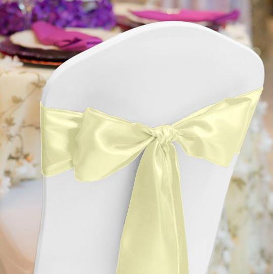 Yellow Satin Chair Sash