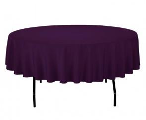 """90"""" Eggplant Tablecloth"""
