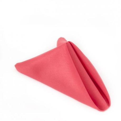 """20"""" Coral Polyester Napkins"""