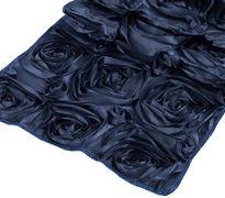 Navy Blue Rosette Table Runner