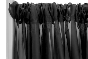 Black Sheer Curtain