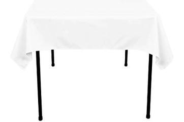 "54"" White Square Tablecloth"