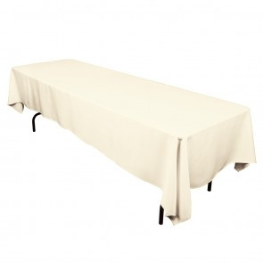 "60x126"" Ivory Tablecloth"