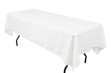 "60X102"" White Tablecloth"
