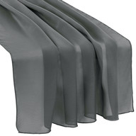 Charcoal Chiffon Table Runner