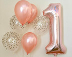 Giant Number & Confetti Balloons