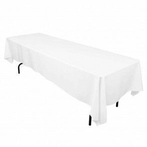 "60x126"" White Tablecloth"
