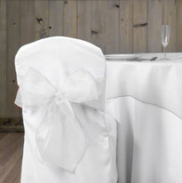 White Organza Chair Sash