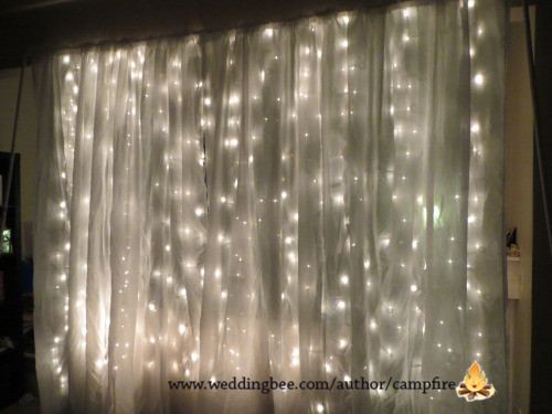 Warm 10FT Lighted Curtain