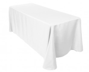 "90x132"" White Tablecloth"