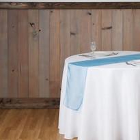 Caribbean Blue Organza Table Runner