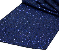 Navy Blue Sequins Table Runner