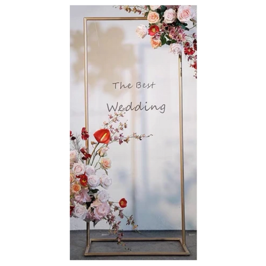 Gold Metal Wedding Sign/Stand