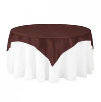 Brown Satin Table Overlay