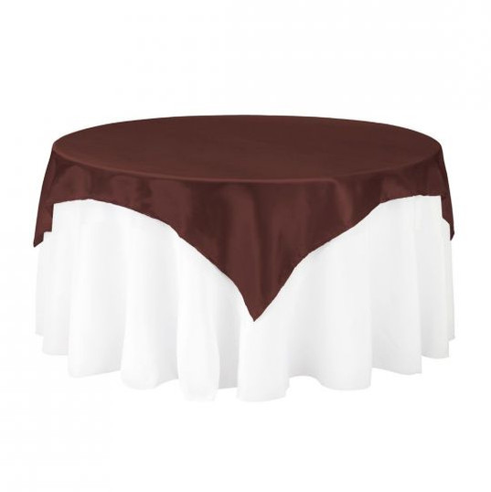Brown Satin Table Overlay