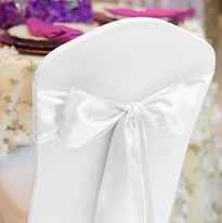 White Satin Chair Sash