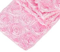 Pink Rosette Table Runner