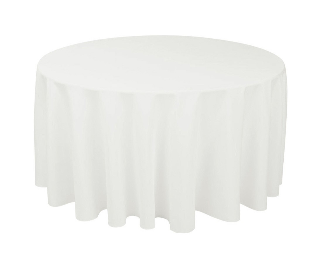 "108"" & 120"" Ivory Round Tablecloths"