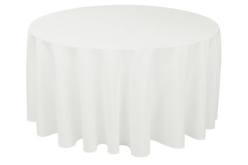 """108"""" & 120"""" Ivory Round Tablecloths"""
