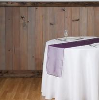 Eggplant Organza Table Runner