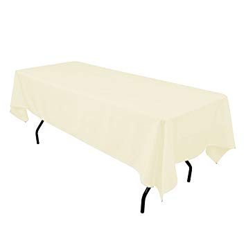 "60x102"" Ivory Tablecloth"
