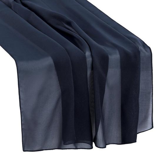 Navy Blue Chiffon Table Runner