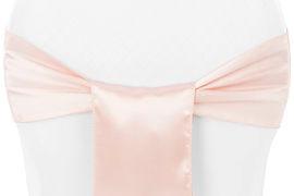 Blush Pink Satin Chair Sash