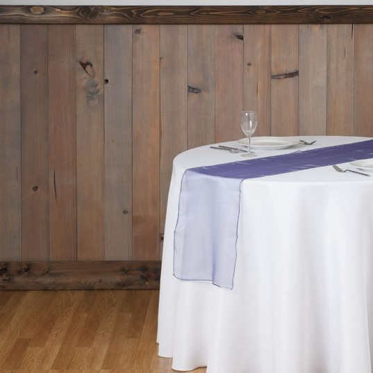 Purple Organza Table Runner