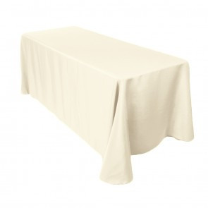"90x132"" Ivory Tablecloth"