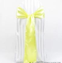 Light EP Yellow Satin Chair Sash