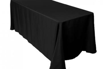 "90x156"" Black Tablecloth"