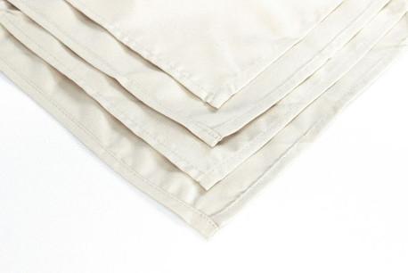 "Ivory 20"" Polyester Napkins"