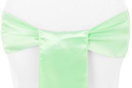 Mint Green Satin Chair Sash