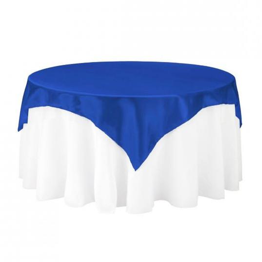Royal Blue Satin Table Overlay