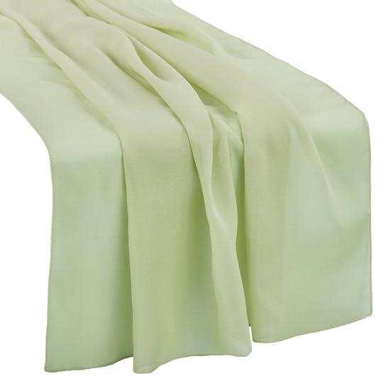 Sage Green Chiffon Table Runner