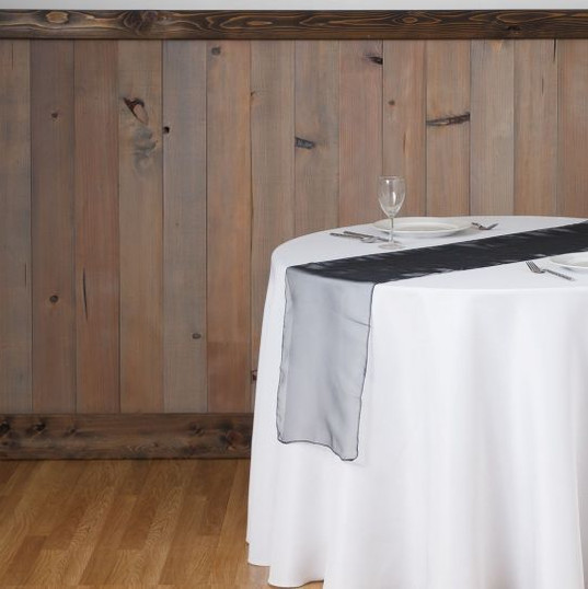 Black Organza Table Runner
