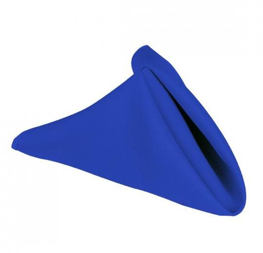 "20"" Royal Blue Polyester Napkins"