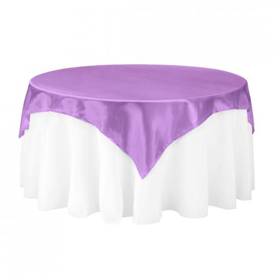 Lavendar Satin Table Overlay