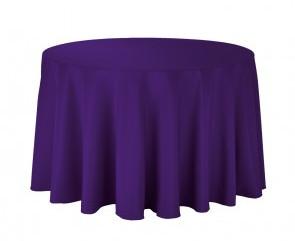 "108"" Purple Round Tablecloth"
