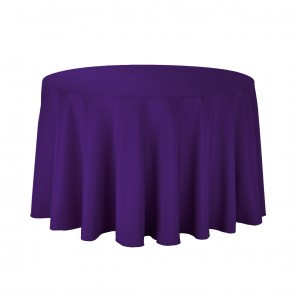 "108"" Purple Round Tablecloth"