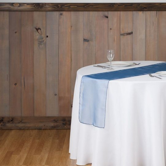Navy Blue Organza Table Runner