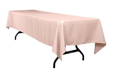 "60x120"" Blush Pink Tablecloth"