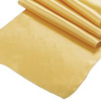 Bright Gold Satin Table Runner
