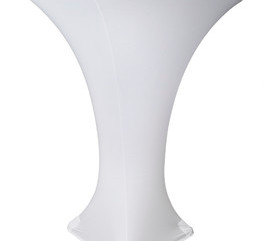 White Stretch Coctail Tablecloth