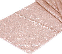Blush Pink Sequins Table Runner