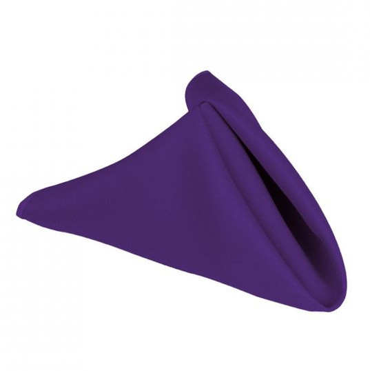"20"" Purple Polyester Napkins"