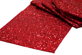 Red Sequins Table Runner