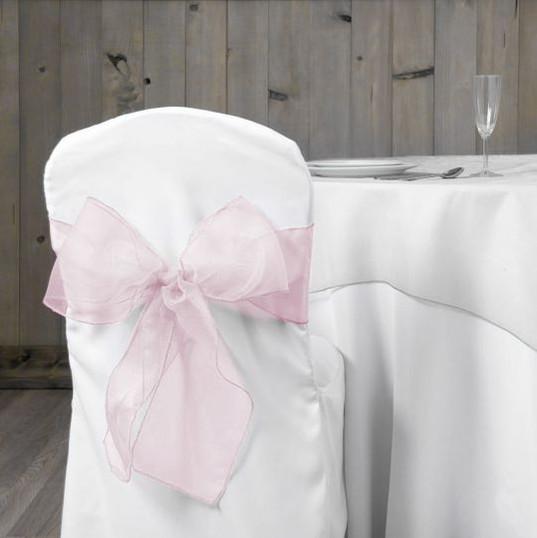 Light Pink Organza Chair Sash