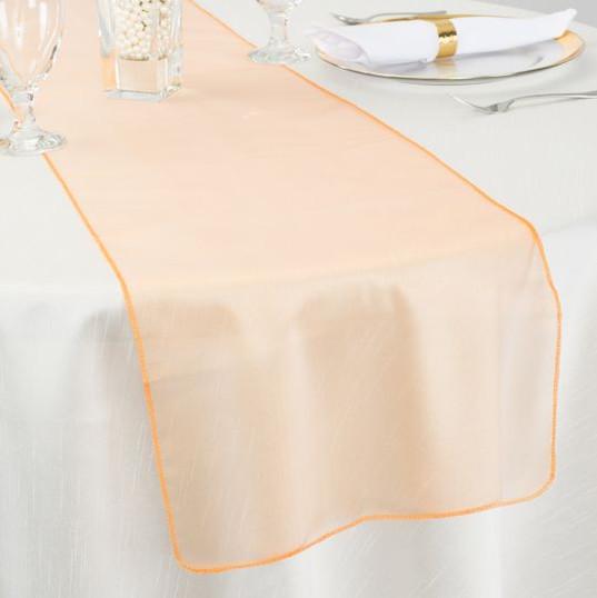 Orange Organza Table Runner